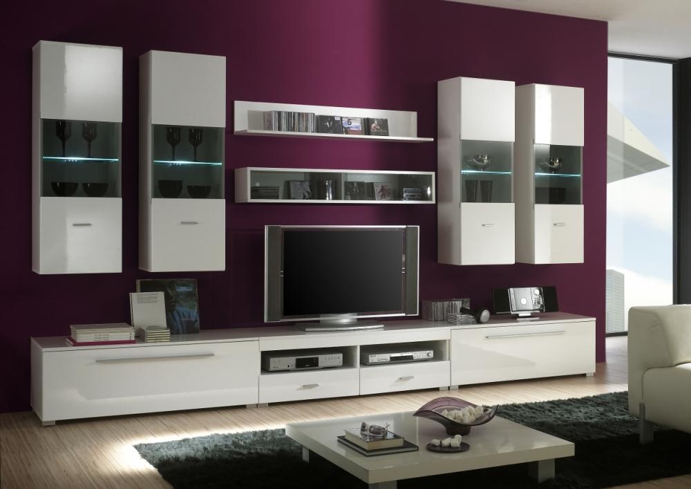 wohnwand beleuchtung anbringen ohne kabel zu sehen led. Black Bedroom Furniture Sets. Home Design Ideas
