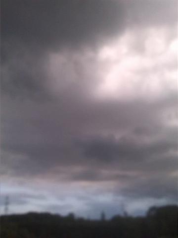 Hund spielt mit einem Engel - (Gesicht, Wolken)