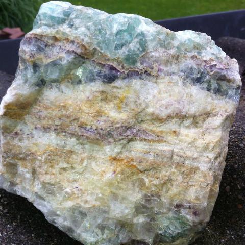 Seitlich - (Steine, mehrfarbig)