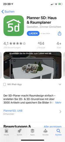 Woran erkenne ich bei App Store wie viel die App kostet?