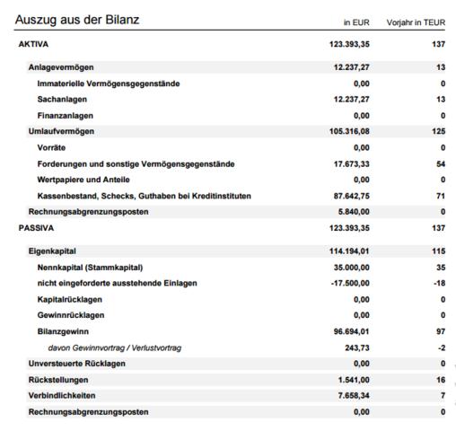 Jahresbilanz - (Finanzen, Unternehmen, Buchhaltung)