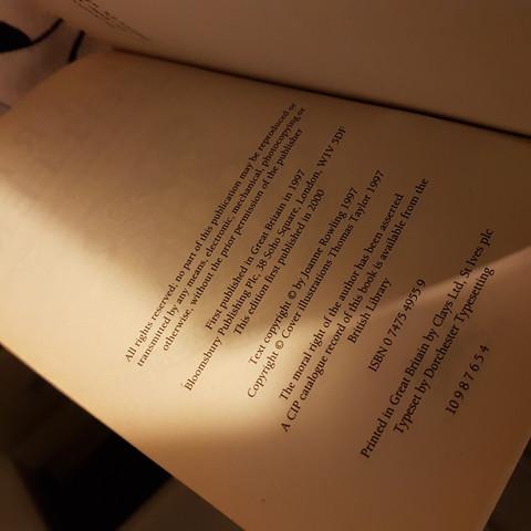 Die Seite - (Buch, Harry Potter, Lektüre)