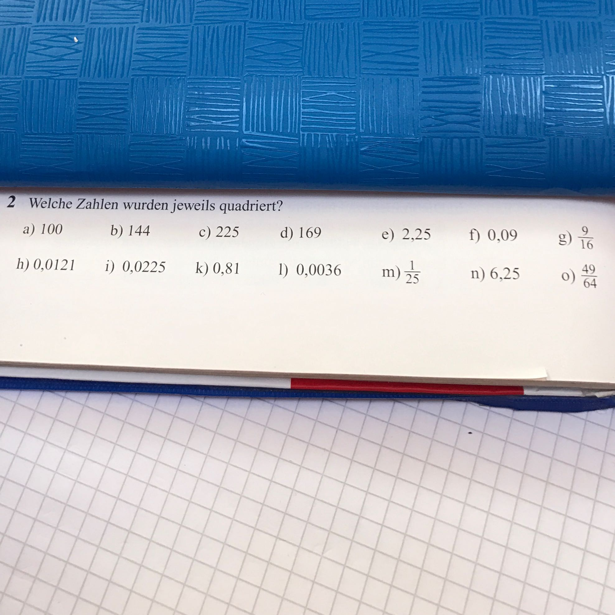 Woran erkennt man ob eine Zahl quadriert wurde? (Schule