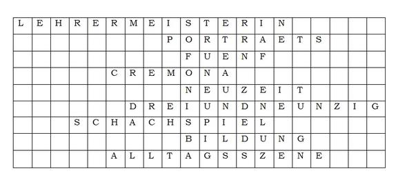 Das Kreuzworträtsel. Die leeren Kästchen sollen weg. - (Word, Tabelle, Word 2010)