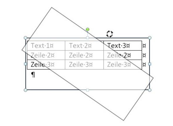 Word Tabelle Drehen