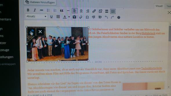 Bild in der richtigen Postition - (Bilder, Wordpress, einfügen)