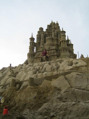 Das Sandschloss - (Kunst, Sand, skulptur)