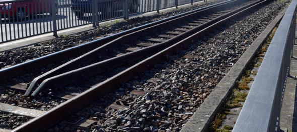 Wozu dienen diese Schienenstränge in der Mitte der Schienenspur - ist das wegen der Brücke und darunter des Schienennetzes welches sich an der Stelle kreuzt?