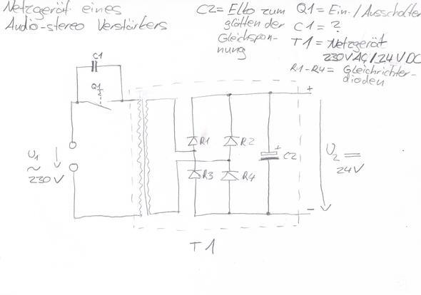 wozu dient der kondensator c1 schaltbild netzteil trafo. Black Bedroom Furniture Sets. Home Design Ideas