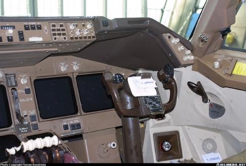 Boeing 747-430 - (Flugzeug, cockpit)