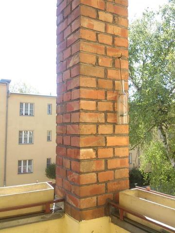Wurde Eine Hangematte An Diesem Rohr Halten Balkon