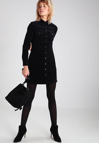 beste Angebote für 2019 authentisch moderne Techniken Würde euch dieses schwarze Cord-Kleid an einer Frau gefallen ...