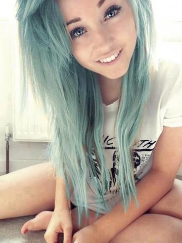 Türkise Haare - (Haare, Farbe)