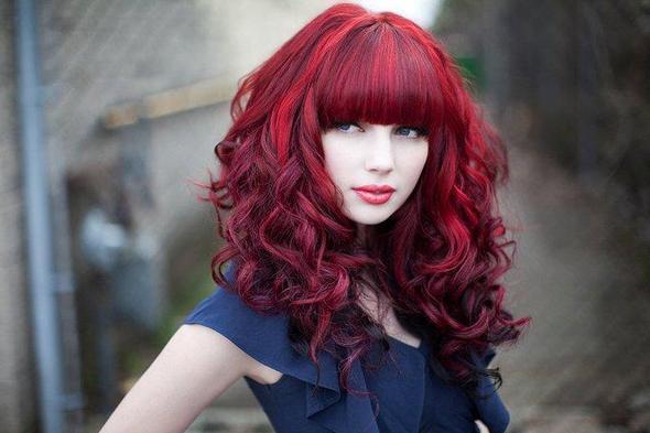 Haare selbst knallrot farben