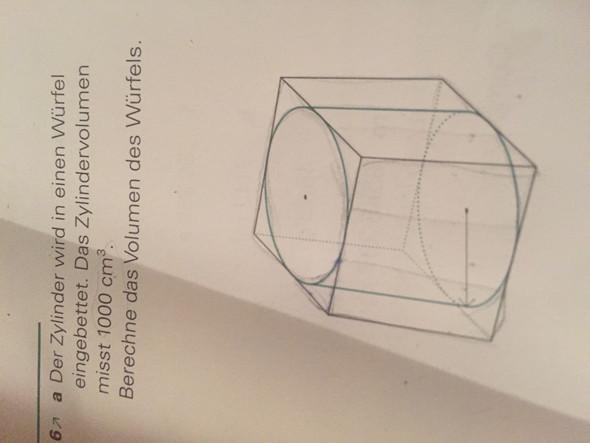 Die Aufgabe - (Geometrie, Zylinder, Würfel)