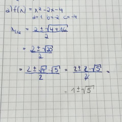 Hier das Bild dazu - (Mathe, Mathematik, Parabel)