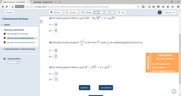 Hier die Fragen a und c - (Schule, Mathematik, Rechnen)