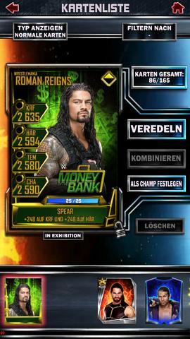 Da sieht man die Karte garnicht mehr :/ - (Wrestling, WWE supercard)