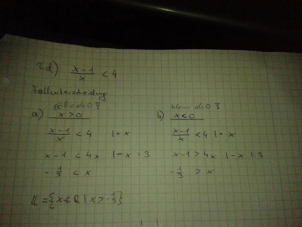x-1/x < 4 - (Bruch, Ungleichungen)