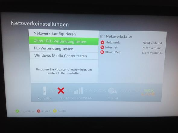 Das steht da IMMER bei einem Versuch mit WLAN verbinden - (Internet, Xbox 360)