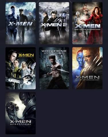 X-Man Filme Reihenfolge?