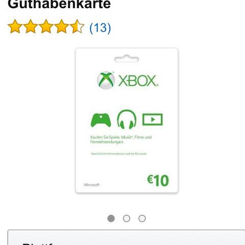Guthaben  - (XBOX ONE, Guthaben)