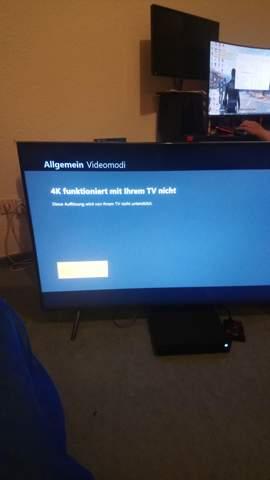 Xbox One X 4K funktioniert am 4K TV nicht?