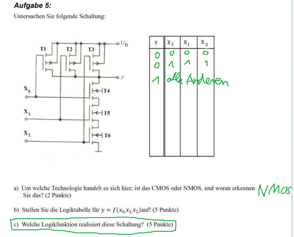 aufga - (Elektronik, Elektrotechnik, Logikgater)