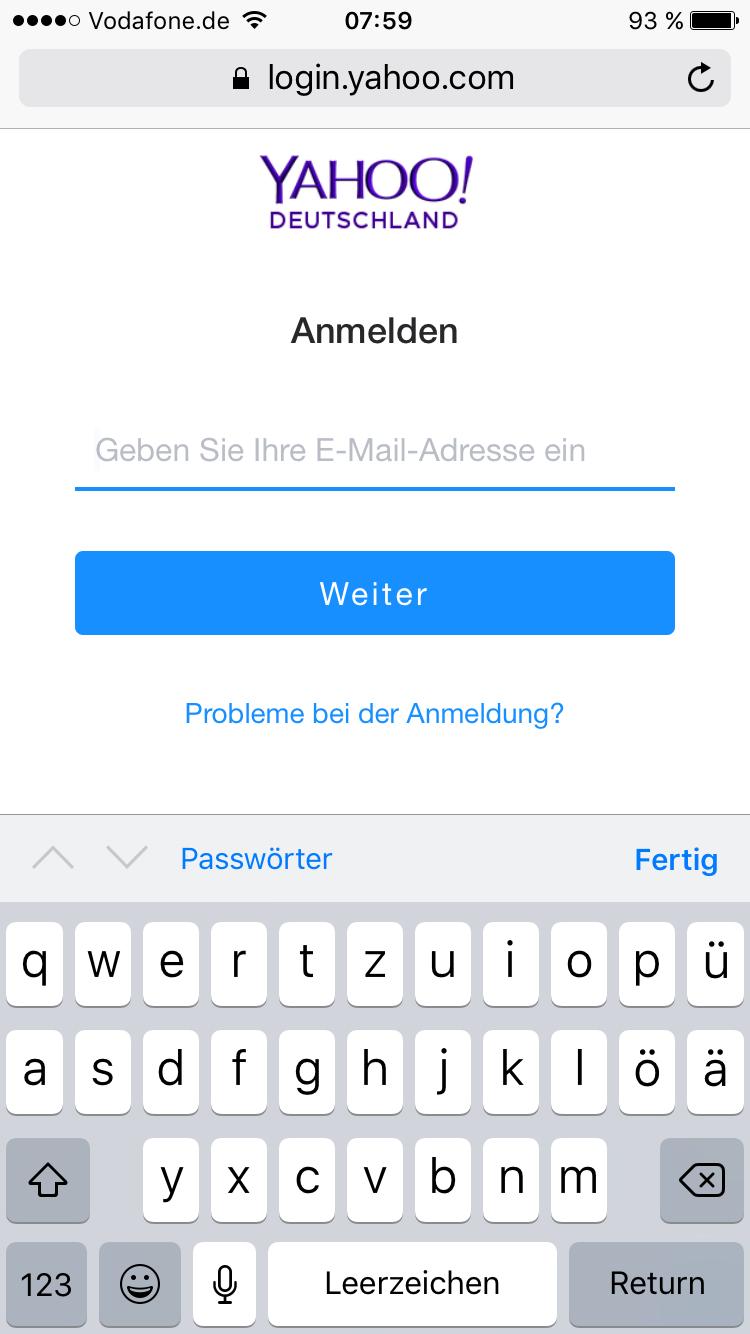 Yahoo Mail Anmeldeproblem? (Computer, Handy, Technik)