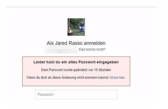...als ich mich bei Facebook anmelden wollte (+Profilbild)... - (Facebook, Name, Passwort)