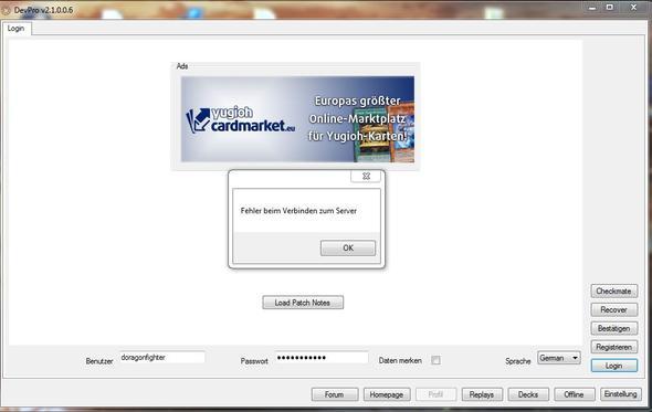 Fehlernachricht - (Games, Server, Error)