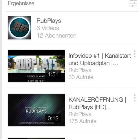 Suchergebnisse - (Internet, Youtube, Kanal)