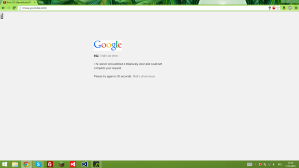 Fehler - (Youtube, Server, Google)