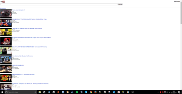 Screenshot zum Interface - (Youtube, Interface)