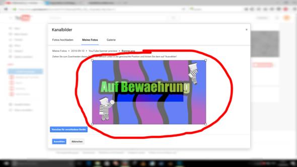 Das ist es - (Youtube, Maße, Banner)