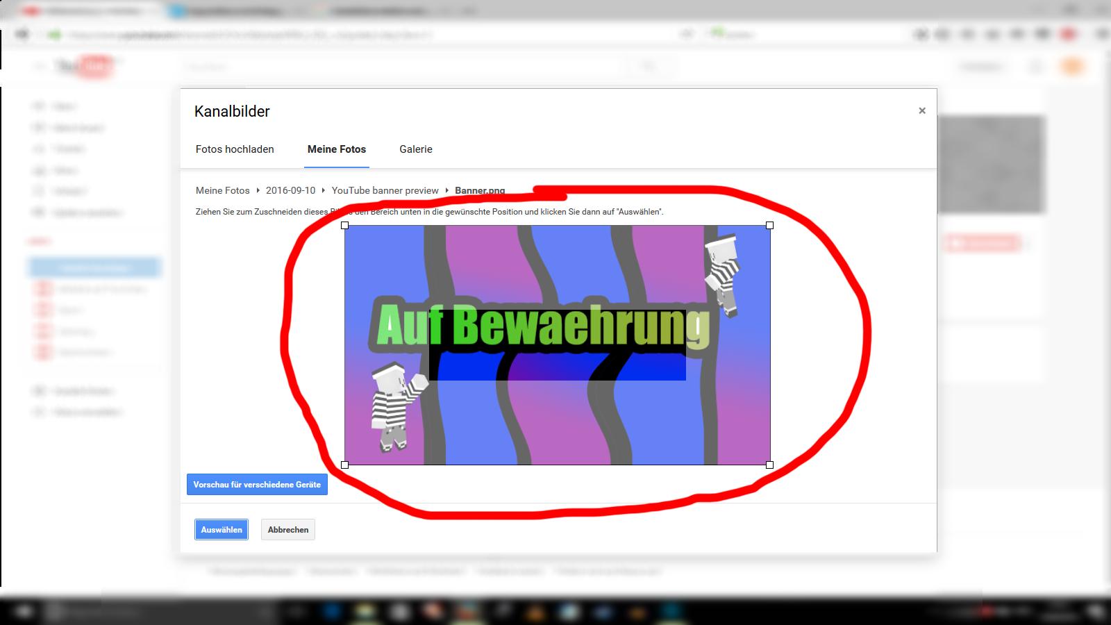 Youtube Kanal-Banner zu groß... bzw. man sieht nicht alles? (Maße)