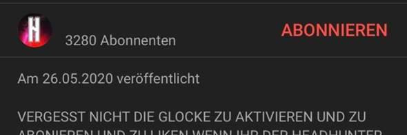 Youtube Name durchsichtig?