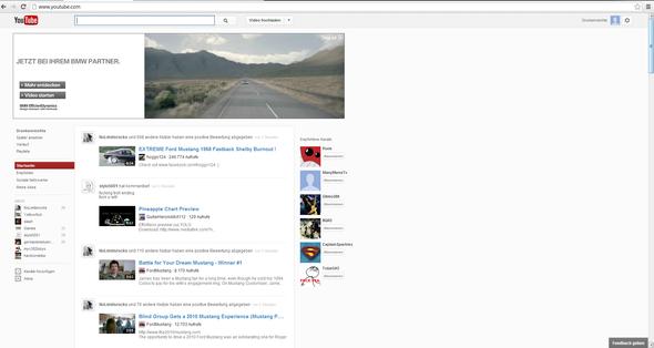 Youtube Startseite zurzeit - (Internet, Youtube, Startseite)