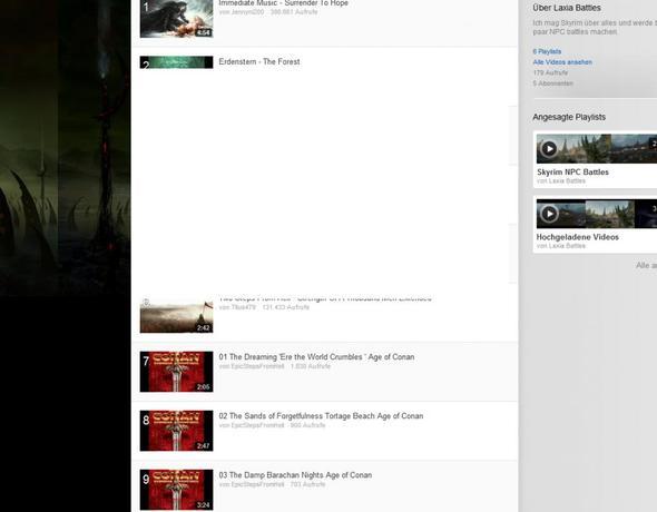 bei kanälen - (Youtube, Fenster, Weißer)