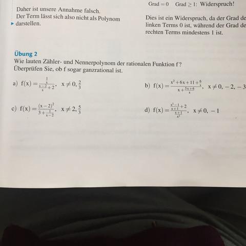 Zähler- und nennerpolynome einer rationalen Funktion? Wie? (Mathe ...