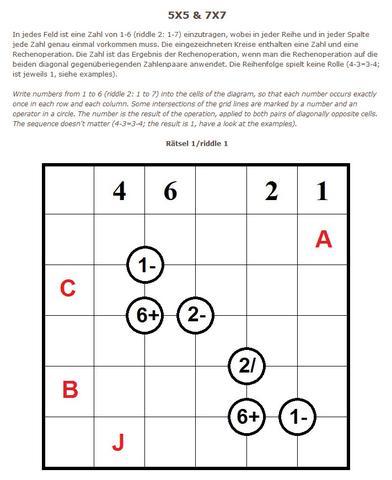 Rätsel 1 - (Mathematik, Rätsel)