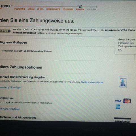 Ganzer Bildschirm - (Amazon, Gutschein, online kaufen)
