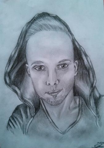 mein Freund :) - (zeichnen, Zeichnung, portrait)