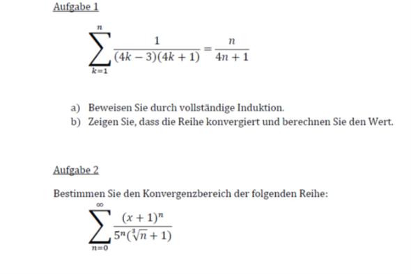 Aufgabe 1b und 2 - (Studium, Mathematik, Universität)