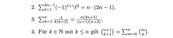 Zeigen Sie die folgenden Aussagen fu ̈r alle n ∈ N?