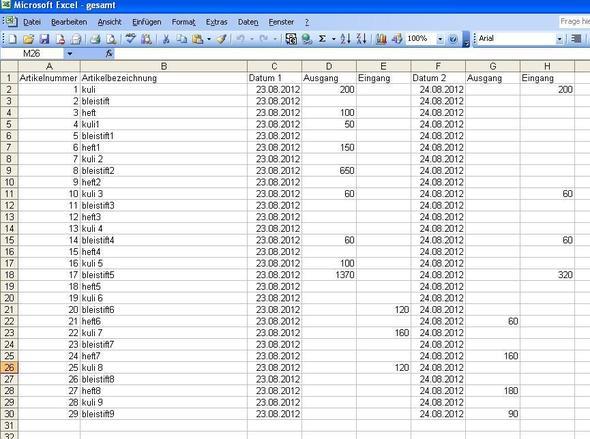 gesamt - (Excel)