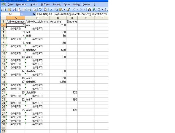 datum1 - (Excel)