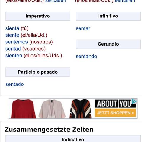 Zweites - (spanisch, zeitformen)