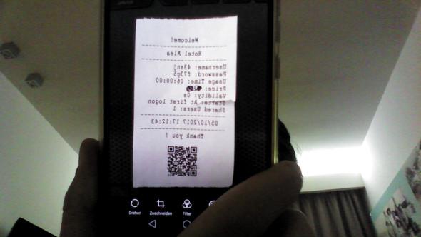 Der Zettel mit dem Code - (Internet, Hotel, internetsperre)