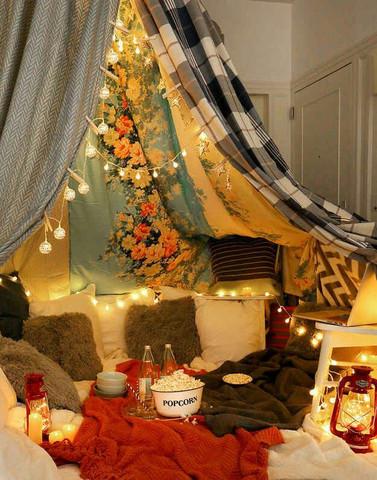 Zelt Im Wohnzimmer Befestigen Romantik Diy